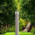 4 PACK - illucio LED Garden/Outdoor Lampost Bollard Lighting Fixture in Stainless Steel - il-0001x4